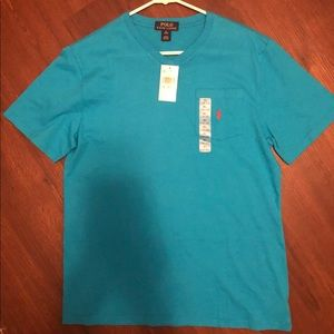 Ralph Lauren Boys XL Jersey 1 Pocket T-Shirt-Blue